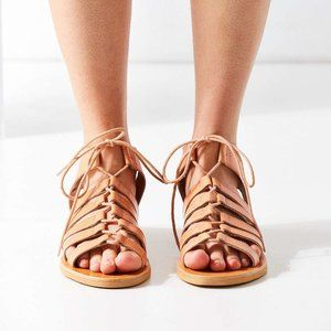 Urban Outfitters Honey Leather Gladiator Sandal